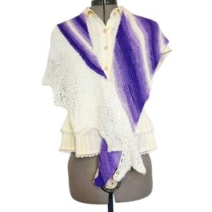 One Of A Kind Hand Knit Dragon Wing Shawlette